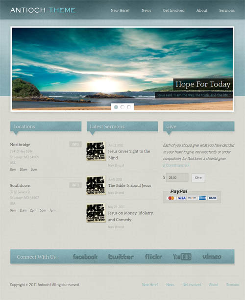 antioch church wordpress theme