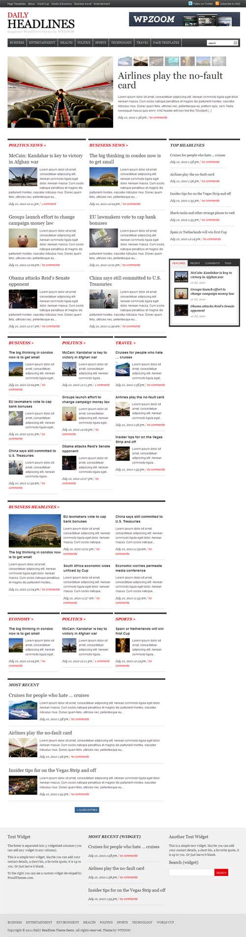 Daily headlines premium wordpress theme daily headlines wordpress theme magicingreecefo Gallery
