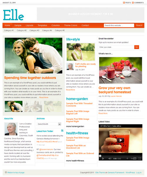 Elle Magazine Premium WordPress Theme