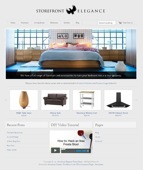 storefront elegance wordpress shop theme. Black Bedroom Furniture Sets. Home Design Ideas