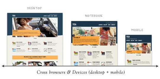 tisa responsive design