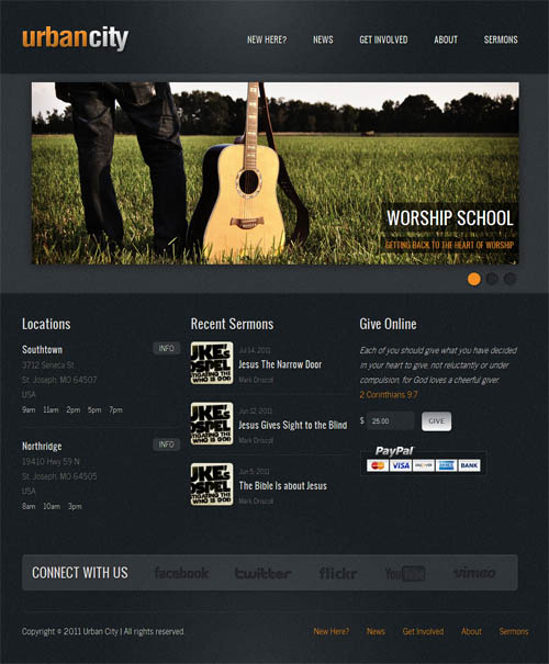 urban city church wordpress theme