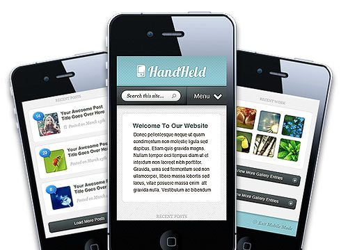 Hand Held: A WordPress Mobile Theme