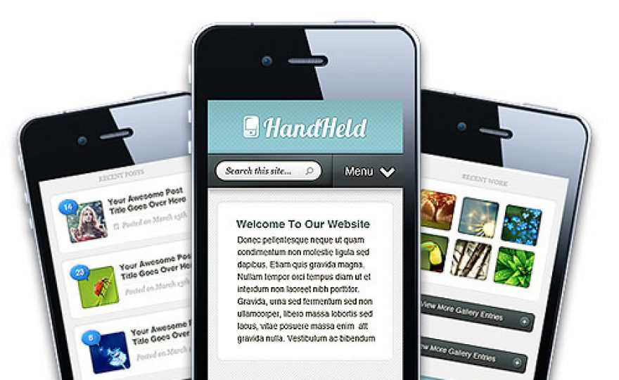 Hand Held: A WordPress Mobile Theme