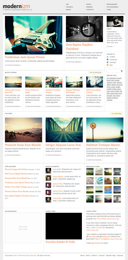 Modernizm Premium WordPress Theme