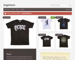 Argentum: A Responsive Online Shop WordPress Commerce Theme