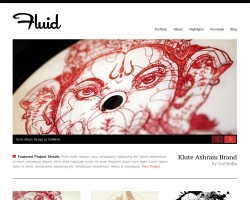 Fluid Responsive Portfolio WordPress Theme