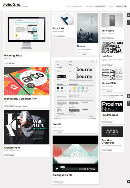 folio grid wordpress theme