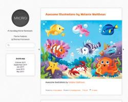 Micro: A Responsive Microblog WordPress Theme Framework