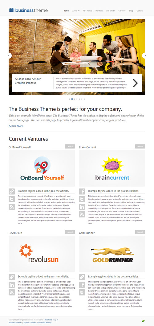 Organic Business WordPress Theme