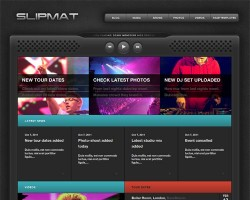 Slipmat Premium WordPress DJ Theme