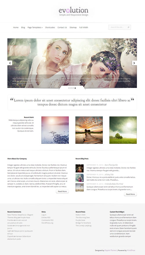 Evolution Premium WordPress Theme