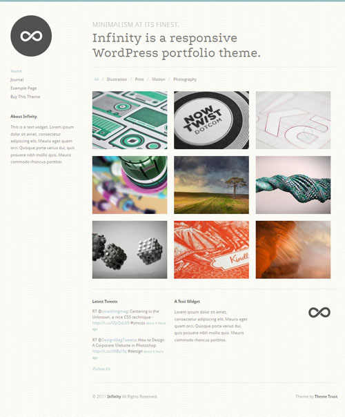 Infinity Portfolio WordPress Theme