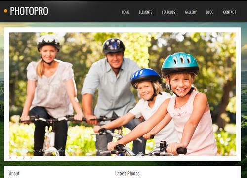Photo Pro WordPress Photography Theme