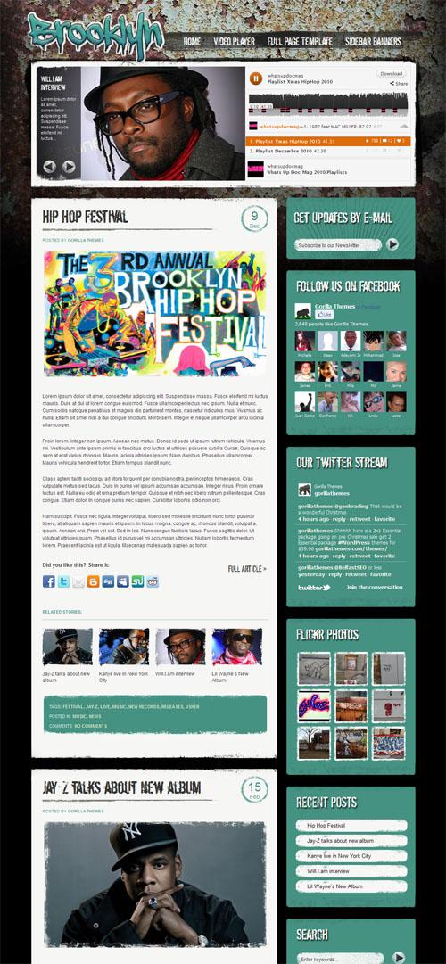 Brooklyn Entertainment WordPress Theme