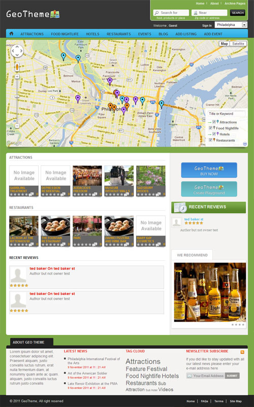 geotheme wordpress theme