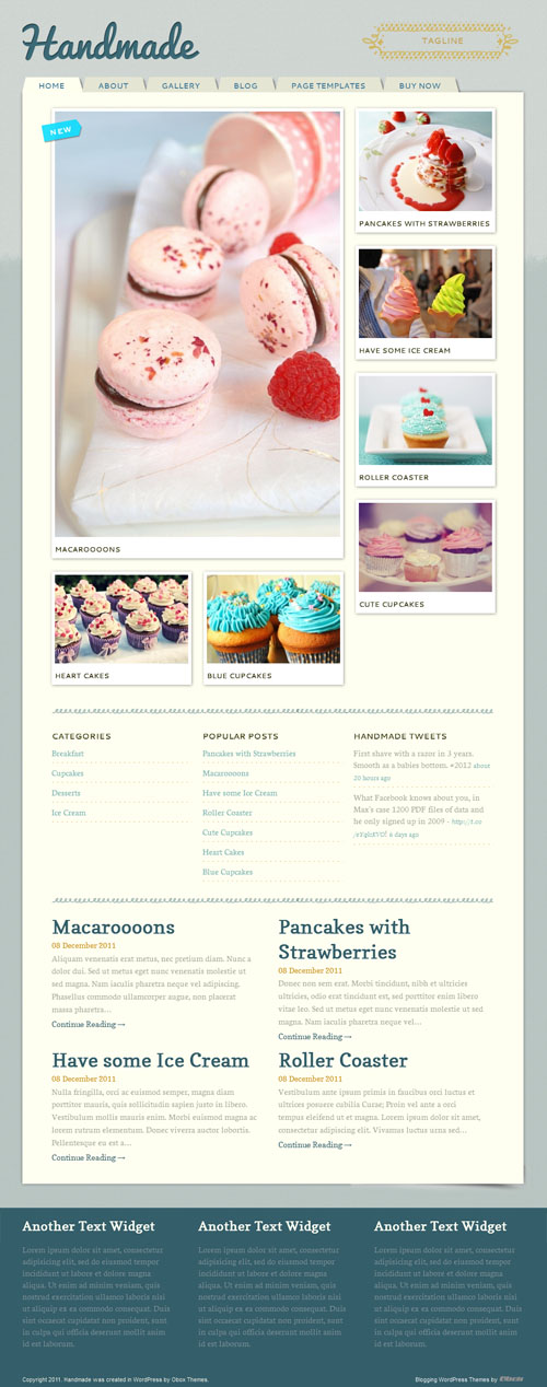 Handmade Premium WordPress Theme