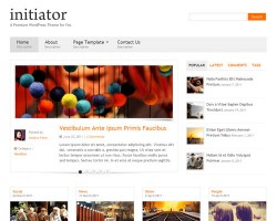 Initiator Responsive WordPress Theme