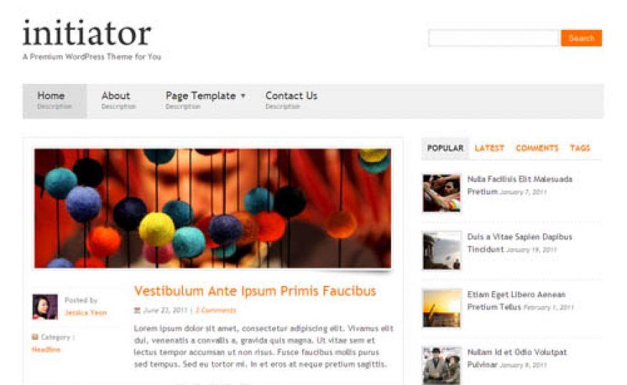 Initiator Responsive WordPress Theme