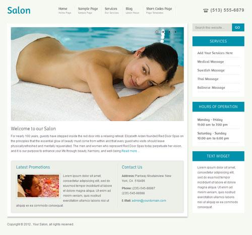 Salon And Beauty Premium Wordpress Theme