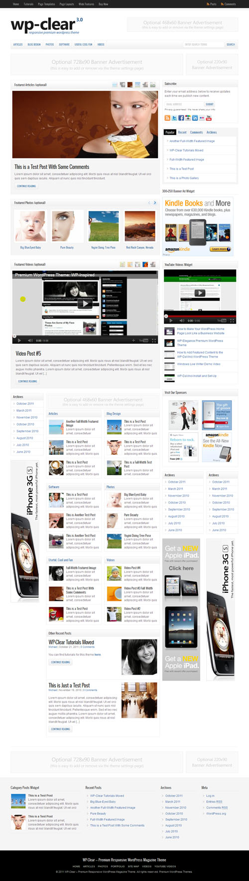 WP Clear 3.0 Premium WordPress Theme