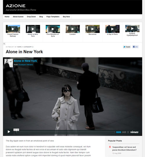 Video Blogging WordPress Theme
