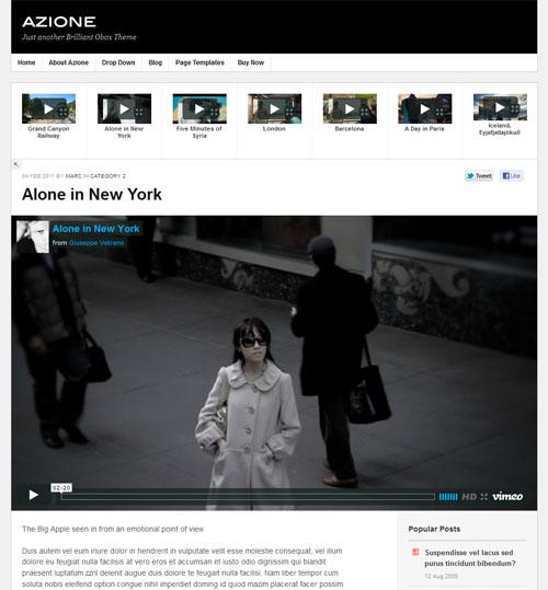 Video Blogging WordPress Theme