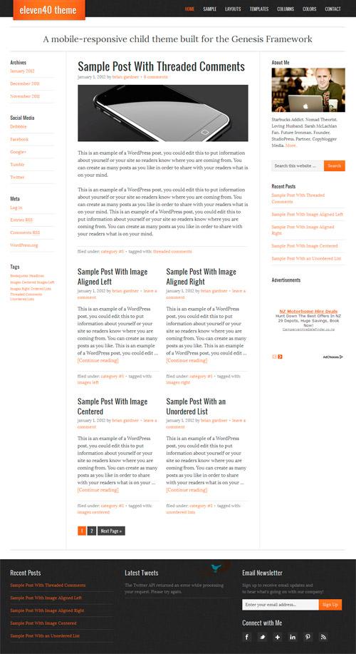 Eleven40 Responsive Premium WordPress Theme