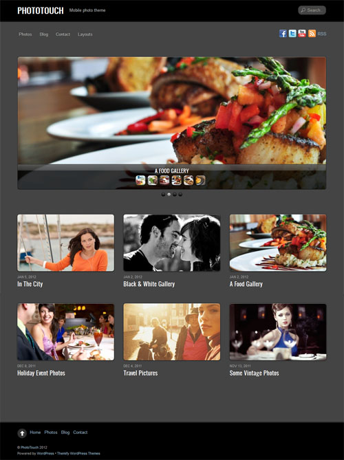 Responsive Photo WordPress Theme