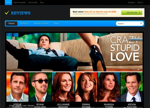 Reviews Website WordPress Theme
