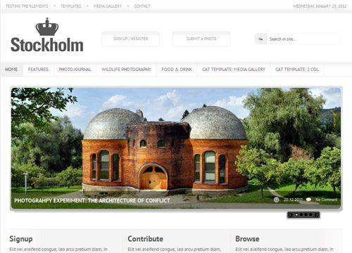 Stockholm Photo Magazine WordPress Theme