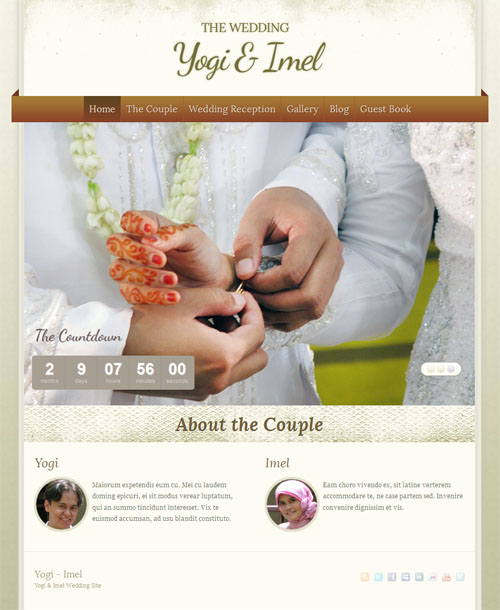 The Wedding WordPress Theme