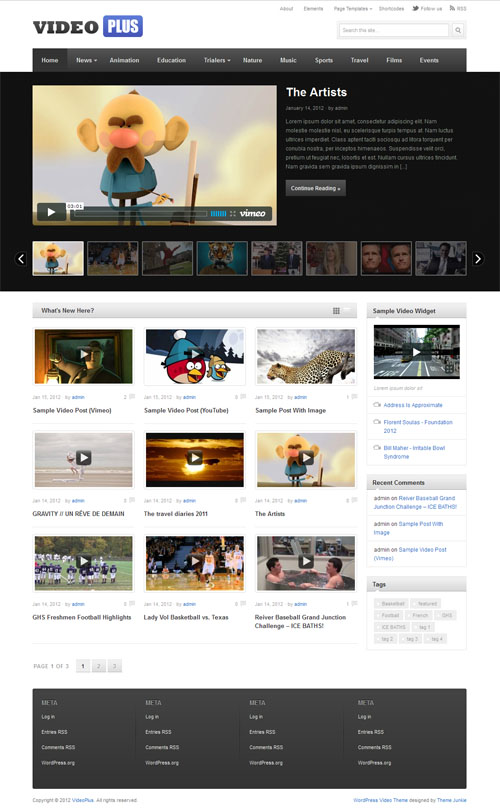 Video Plus Premium WordPress Theme