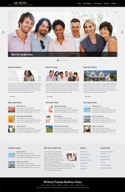 WP Attract Premium WordPress Theme