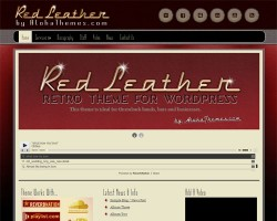 Retro WordPress Theme – Red Leather