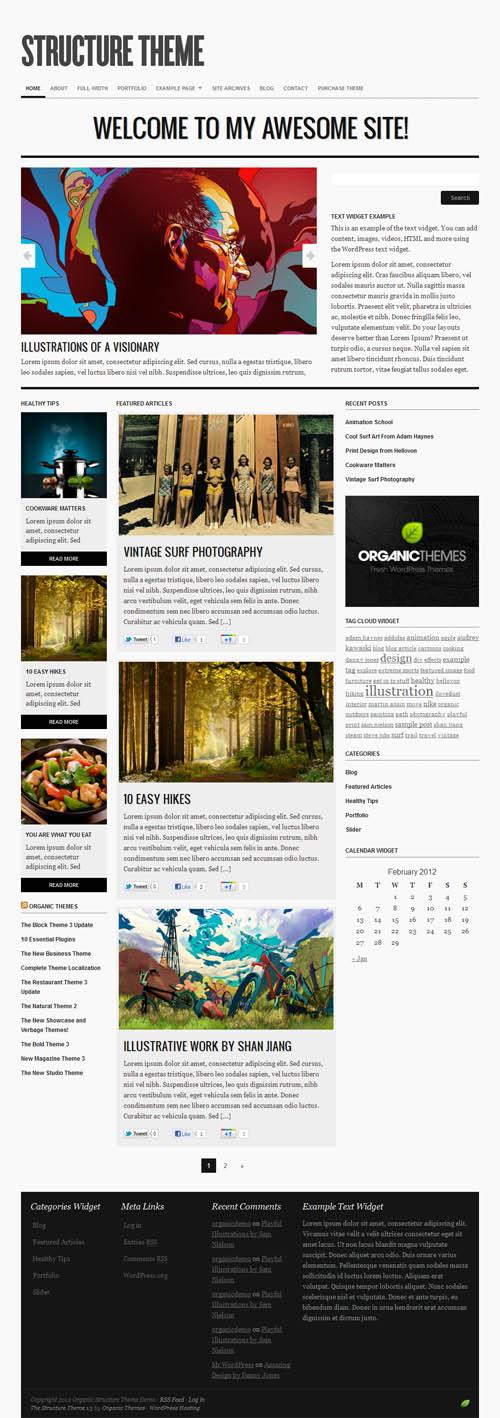 Structure 3.0 Responsive WordPress Theme