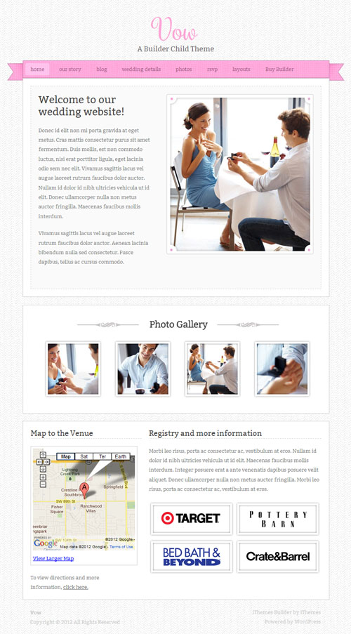 Wedding WordPress Theme