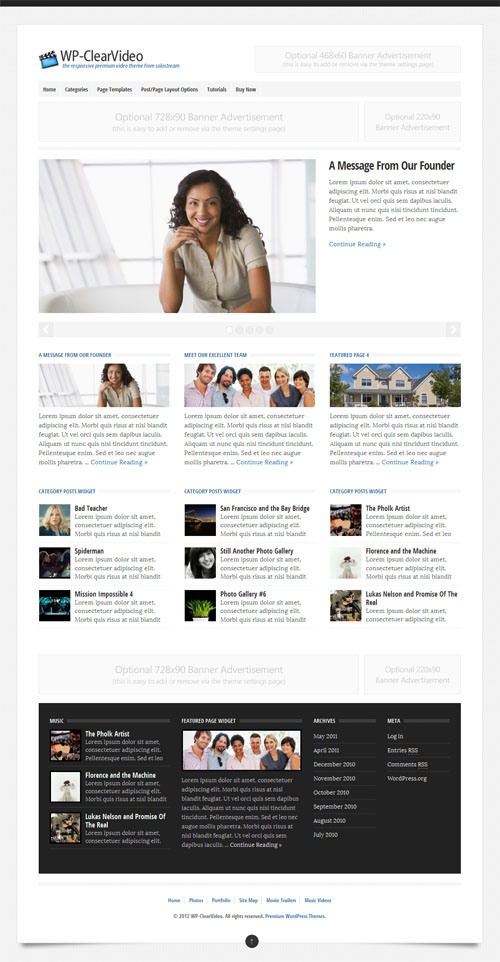 video business wordpress theme