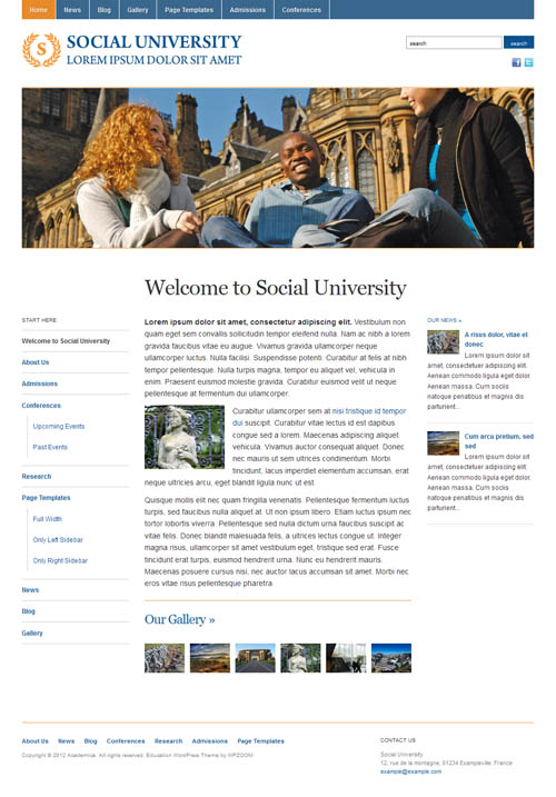 academica wordpress theme
