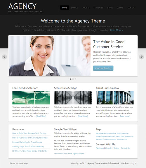 Agency 2.0 Business WordPress Theme