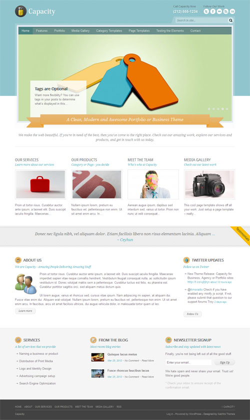 Capacity Business WordPress Theme