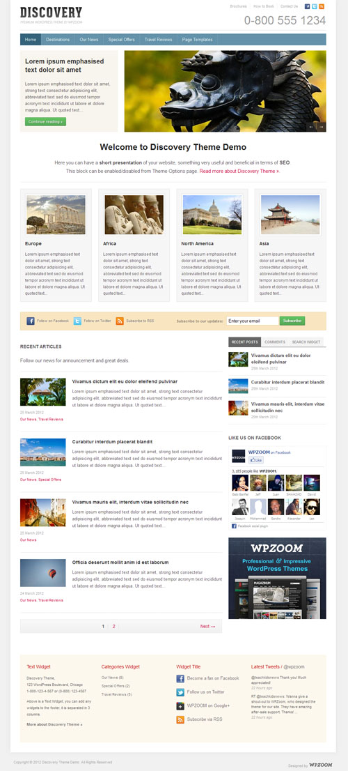 Business Travel WordPress Theme