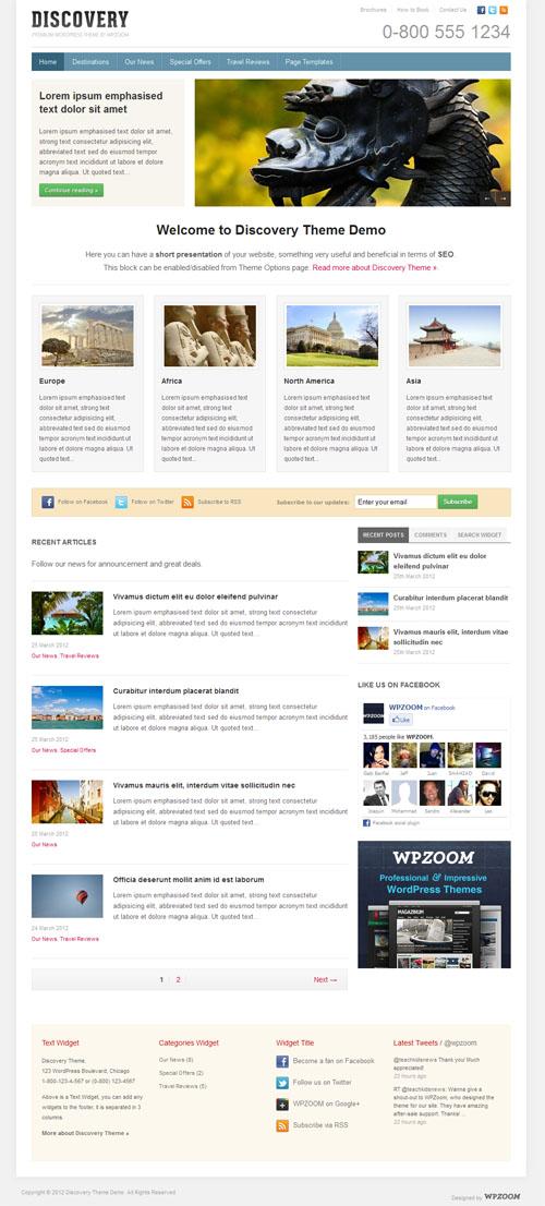 Business Travel WordPress Theme
