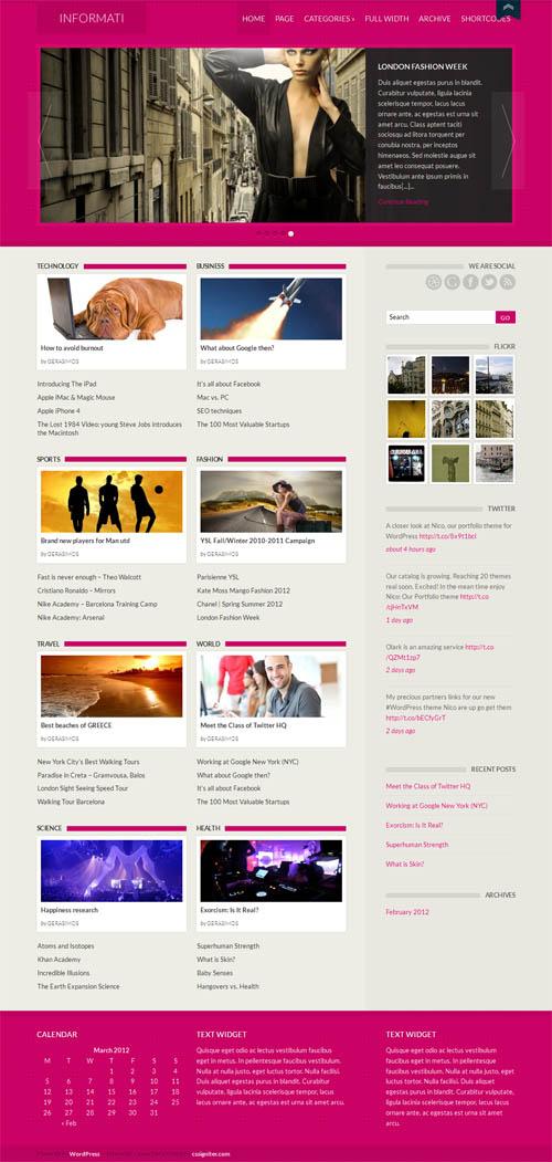 Informati Magazine WordPress Theme