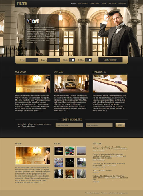Hotel WordPress Theme Philoxenia