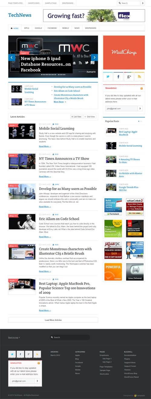 Tech News Responsive WordPress Theme