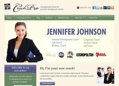 Personal Development Coach and Membership Site WordPress Theme