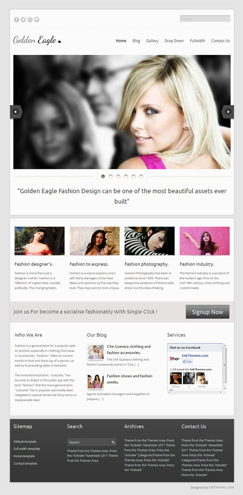 Golden Eagle Responsive Business WordPress Theme