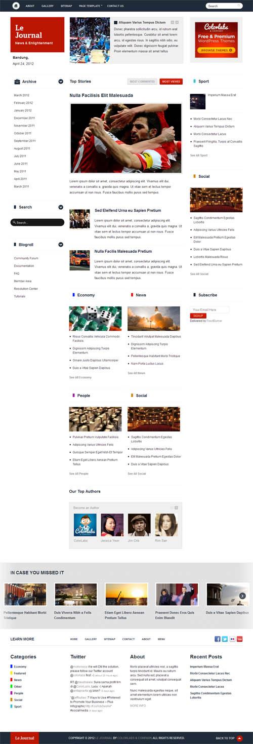 Le Journal Magazine WordPress Theme