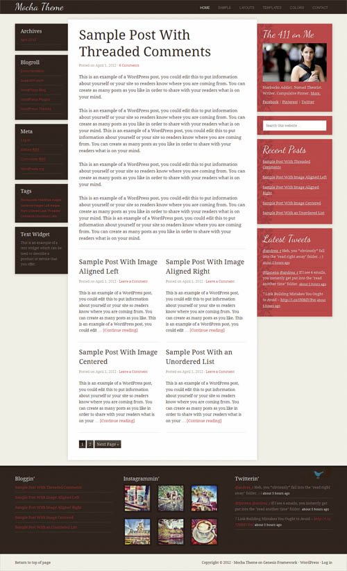 Mocha 2.0 Premium WordPress Theme